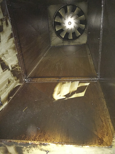 Kitchen duct fan installation